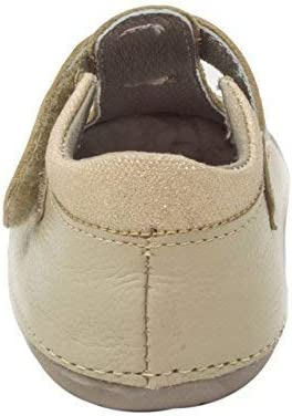 Wobbly Waddlers Natura Emma Baby Girl Leather Shoes First Walker Flower T-Strap