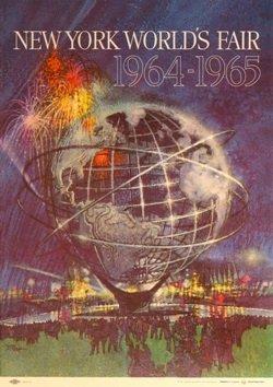 New York World's Fair 1964-65 (Blue, Small Format) - Original Vintage Poster
