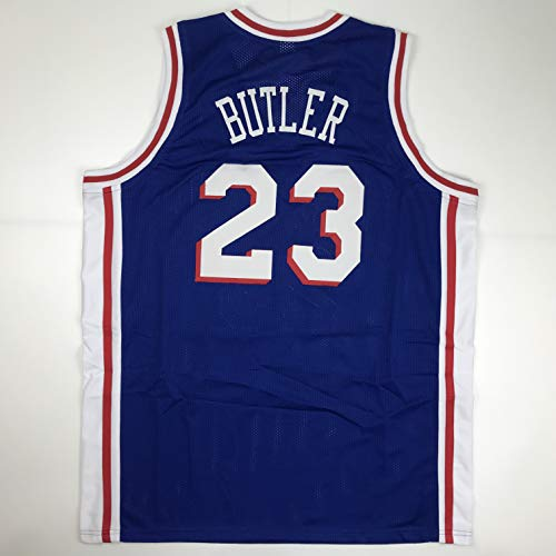 (Unsigned Jimmy Butler Philadelphia Blue Custom Stitched Basketball Jersey Size Men's XL New No Brands/Logos)