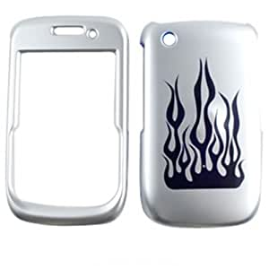 Blackberry Curve 8520 8530 9300 Laser Cut Hard Case Cover Blue Flame