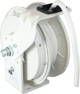product image for KH Industries RTB Series ReelTuff Power Cord Reel, 12/3 SJOW White Cable, 20 Amp, 50' Length, White Powder Coat Finish
