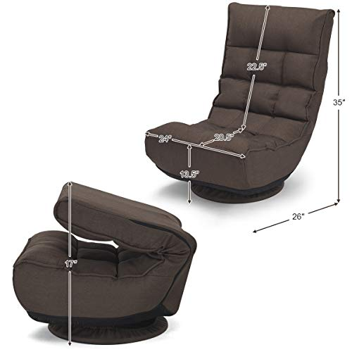 Giantex 360 Degree Swivel Gaming Chair 4 Position