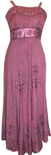 Traders Gypsy Dress Casual 1003 Medieval Agan Boho Length Spaghetti Strap Tea Plum Gothic DR dS7nwnxP8