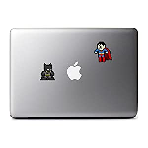 8-Bit Batman vs Superman Decal for MacBook, iPad Mini, iPhone 5S, Samsung Galaxy S3 S4, Nexus, HTC One, Nokia Lumia, Sony at Gotham City Store