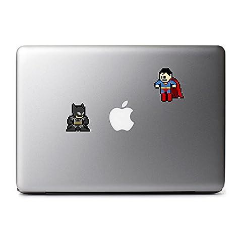 8-Bit Batman vs Superman Decal for MacBook, iPad Mini, iPhone 5S, Samsung Galaxy S3 S4, Nexus, HTC One, Nokia Lumia, (Samsung Galaxy S3 Mini Batman)