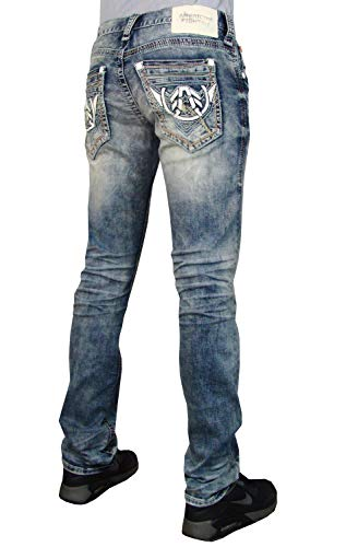 American Fighter Legend Battle Frazier Slim Straight Denim Jeans Pants for Men by Affliction