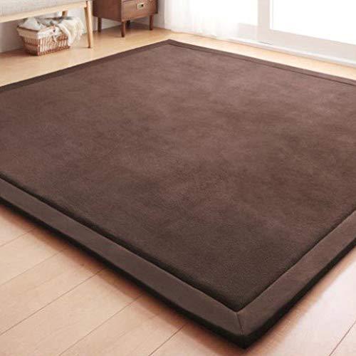 Large Thick Coral Fleece Rug Tatami Mat Bedroom Living Room Carpet Baby Crawling Mat Memory Foam Pads