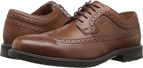Rockport Men's Essential Details II Wing Tip Oxford,Tan Antique Leather,US 11 W