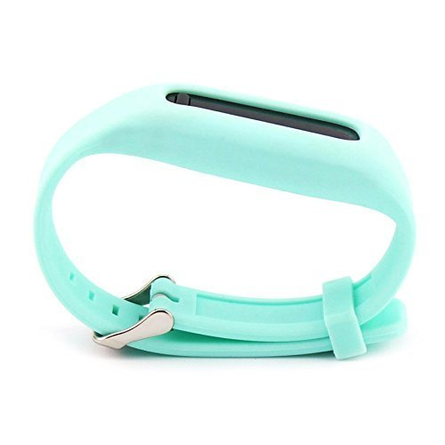 SnowCinda For Fitbit One Strap Replacement Band, Adjustable Silicone Wristband with Chrome Watch Clasp and Fastener Buckle for Fitbit One Wireless Activity and Sleep Tracker