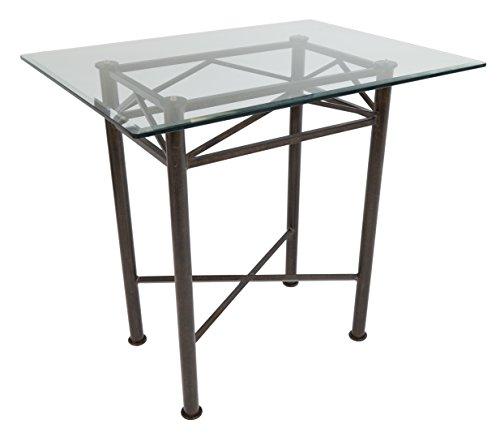 Impacterra Arizona Bar Table, Autumn Rust, Bar Height (40 Inch Bar Table)