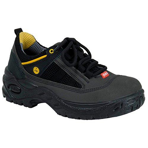 """Ejendals 3118W-35taglia 35""""JALAS 3118W sicurezza scarpe, colore: nero/grigio/giallo"""