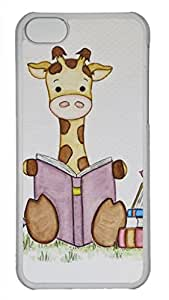 Appealing Transparent PC Protective Back Cover Case for Apple iPhone 5C Covered with Attractive Image baby giraffe -10