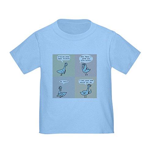CafePress 2-Pigeon T-Shirt Cute Toddler T-Shirt, 100% Cotton Baby Blue