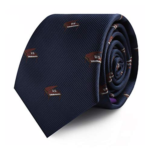 Pianist Piano Player Tie for Him | Musician Gift for Men | Keyboard Player Skinny Neckties | Present for Work Colleague | Bday Gift for Guys (Piano)