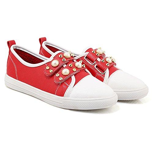 Red Women's Shoes TAOFFEN Low Sneaker Heel wOHwZ7qp