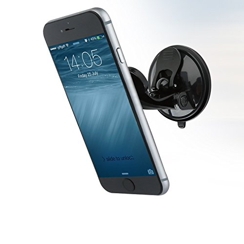 Price comparison product image Magnetic Suction Cup Phone mount, APPS2Car Car Dash Mount Dashboard Windshiled Cell Phone Holder for iPhone 7, 7 Plus, 6, 6 Plus, Nexus 6P, 5X, 5, Samsung Galaxy S8 S7 S6 A9 A8 A7 A5, Oneplus 3T, 3, 2