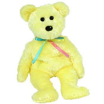 Ty Beanie Babies Sherbet the Bear (Infant Yellow Teddy Bear)