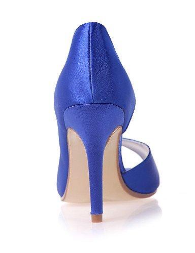 ShangYi Chaussures de mariage - Noir / Bleu / Violet / Ivoire / Blanc / Argent / Champagne - Mariage / Soirée & Evénement - Bout Ouvert - Sandales , 3in-3 3/4in-black