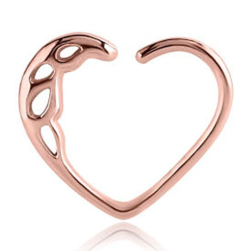Rose Gold Open Heart Continuous Ring - Teardrops (Gold Teardrop Heart)