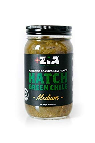 Roasted Desert Salsa Pepper (Original New Mexico Hatch Green Chile By Zia Green Chile Company - Delicious Flame-Roasted, Peeled & Diced Southwestern Certified Green Peppers For Salsas, Stews & More, Vegan & Gluten-Free - 16oz)
