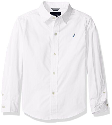 Nautica Boys Solid Poplin Shirt