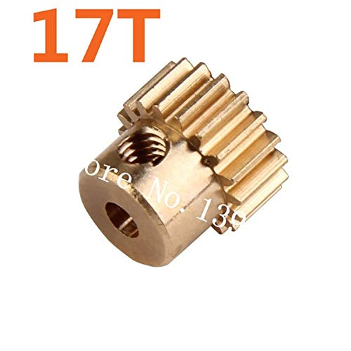 Hockus Accessories 11119 Motor Gear (17T) Metal Brass Pinion Parts for 1/10 EP RC Car Monster Truck 94111 Brontosaurus Pro Hobby