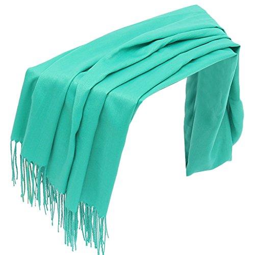 Invierno pañuelo Envuelve Pashmina 9 Bufanda Mujer Largo para borlas Dabixx 29 sólido otoño Chal Hijab ZUXP4Hxw