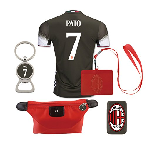 #7 Pato (6 in 1 Combo) A.C. Milan 2nd Away Match Adult Soccer Jersey 2016-17 - Pato Ac Milan