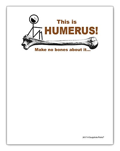 Bone Chipboard (This is Humerus Notepad, I Found This Funny Bone Gift Idea 4.25 x 5.5, 50 Sheets)
