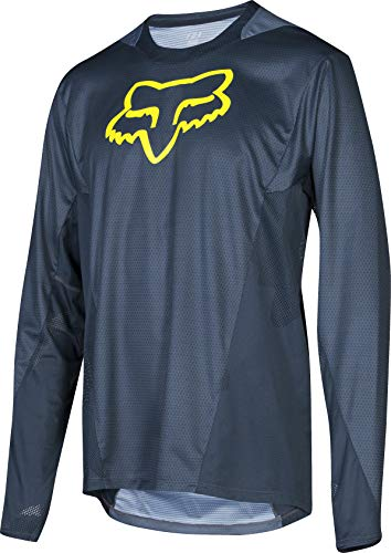 Fox Racing Demo Long-Sleeve Bike Jersey - Men's Camo Burn Midnight, L