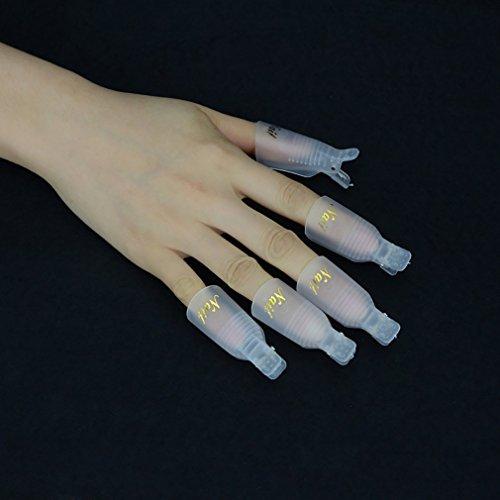 Elite99 Professional 10pcs Durable Reusable Plastic Nail Art