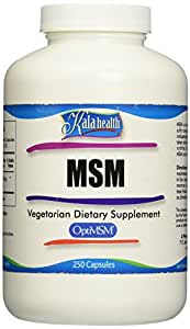250 MSM Vegetarian Capsules, 1000-mg/capsule. No Additives. The Only MSM Made in the USA and the World's Purest, Quadruple-distilled MSM.