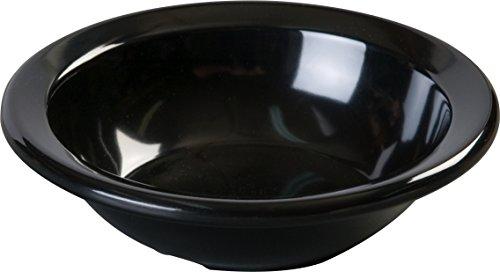 Carlisle KL80503 Kingline Rimmed Fruit Bowls, Set of 48 (4 3/4-Ounce, Melamine, Black, ()