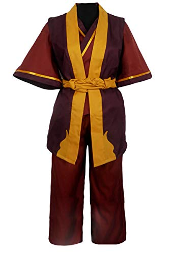 CLLMKL Avatar The Last Airbender Prince Zuko Uniform Cosplay Costume (Men:X-Large) Yellow-red]()