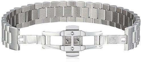 Mens-Diamond-Stainless-Steel-Barrel-Link-Bracelet-12cttw-I-J-Color-I2-I3-Clarity-85