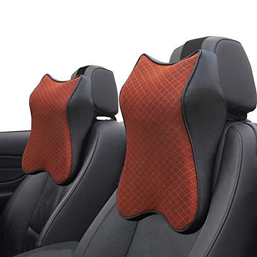 Almohada de espuma con efecto memoria para el cuello del coche, apoyo para el reposacabezas, cojín lumbar para asiento...