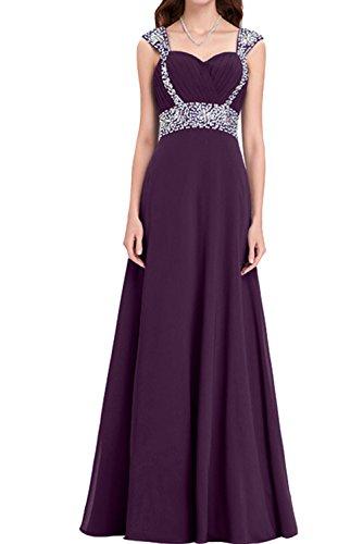 Steine Festkleider Promkleid Abendkleider Ivydressing A Damen Traube Lang Linie Chiffon Traeger gxPwFTC