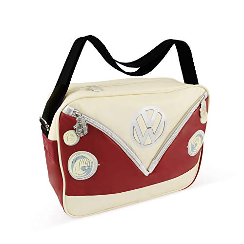 VW Collection Volkswagen T1 Bus Shoulder Bag Landscape - Red