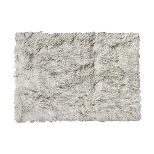 (5 ft x 8 ft) Luxe Faux Fur Luxury Soft Premium Quality Thick & Lush Fade Resistant Shed Free 100% Animal-Free Hudson Faux Sheepskin Area Rug, Gradient Grey