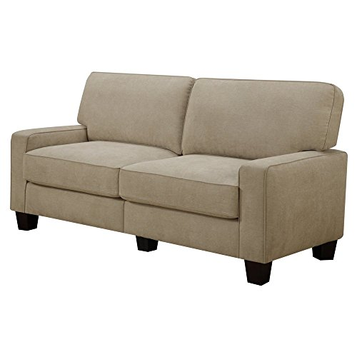 Serta RTA Palisades Collection 61″ Loveseat in Flagstone Beige