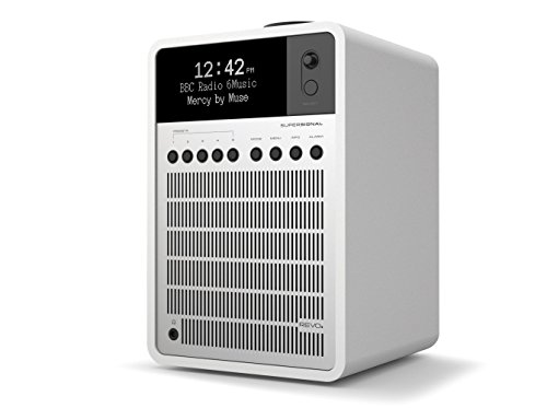 REVO SuperSignal Deluxe Radio with DAB/DAB+/FM Reception, Digital Alarm and Bluetooth Wireless Streaming - Matte White/Silver by Revo