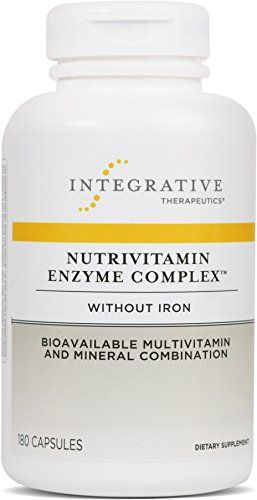 Integrative Therapeutics - Nutrivitamin Enzyme Complex without Iron - Bioavailable Multivitamin and Mineral Combination - 180 (Multi Enzyme Complex 180 Capsule)