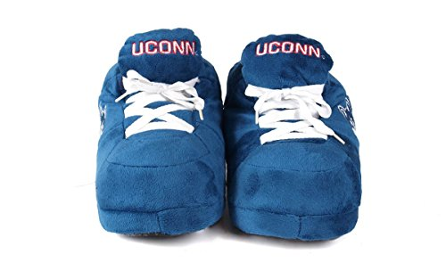 Happy Feet Mens and Womens OFFICIALLY LICENSED NCAA College Sneaker Slippers Connecticut Huskies n4YvAp