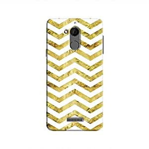 Cover It Up - Gold White Tri Stripes Coolpad Note 5 Hard case