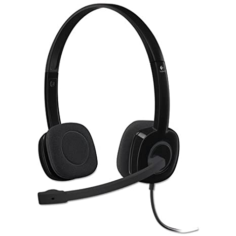 66cb3bd28b0 Image Unavailable. Image not available for. Color: Logitech 3.5 mm Analog Stereo  Headset H151 ...