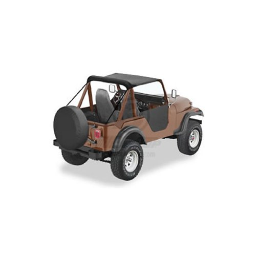 Bikini Top Black 1952-1957 Willys M38-A1S 1955-1975 CJ5 And 1955-1981 CJ6S 52505-01 ()