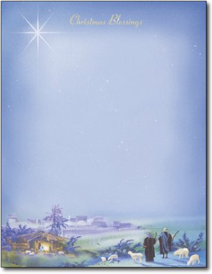 Wondrous Light Christmas Stationery Paper - 80 Sheets