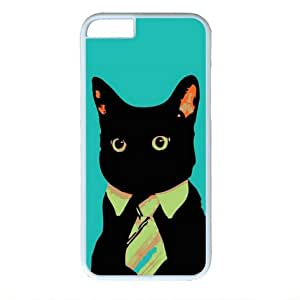 Business Cat White Sides Hard Shell Case for Iphone6 4.7 inch by Sakuraelieechyan