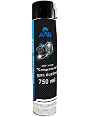 AAB Compressed Gas Duster 750ml - Aerozol Czyszczący, Sprężone Powietrze do Wyposażenia Komputerowego, Puszka, Spray do Odkurzania Komputera, Klawiatury, Laptopa, Sprzętu Biurowego, PC