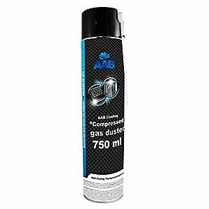 AAB Spray de Aire Comprimido 750ml para Limpiar Teclados, Ordenadores, Copiadoras, Cámaras, Equipos Eléctricos | Efectividad Limpieza sin CFCs | ...